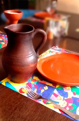 Посуда из глины керамика ручной работы эксклюзивный дизайн посуды Москва