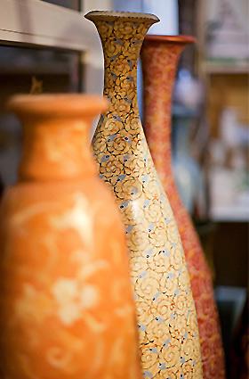 Вазы индивидуальный дизайн из глины ручной работы Москва  купить заказать